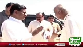 Khurshid Shah Surprise Visit in Sukkur | Neo news | 9 October 2016