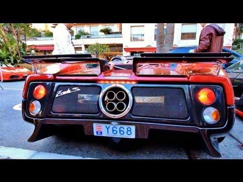 22 Supercars Starting Up Aventador Zonda Enzo Spano