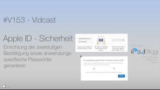 #V153 - Apple ID & Sicherheit - zweistufige Bestätigung