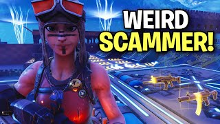Extremely Weird scammer scams himself! 😆 (Scammer Get Scammed) Fortnite Save The World