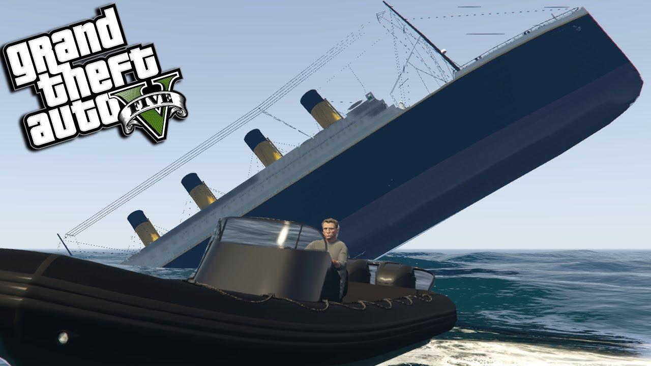 GTA 5 Mods - TITANIC SAVED BY JAMES BOND MOD (GTA 5 PC Mods Gameplay)