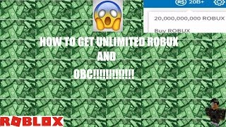 HOW TO GET UNLIMITED ROBUX AND OBC ON ROBLOX(WORKING)
