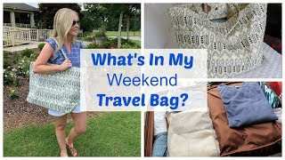 What's In My Weekend Travel Bag?