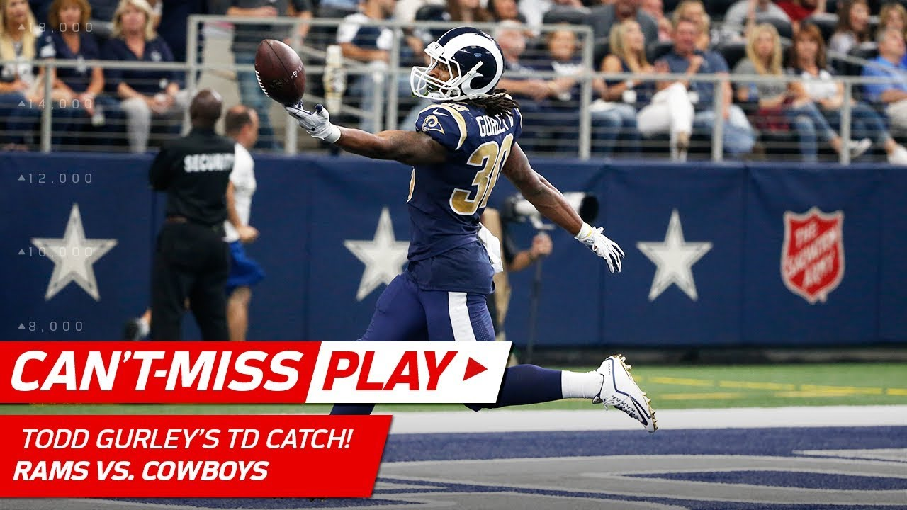 Todd Gurley Snags Quick Pass from Jared Goff for Huge TD