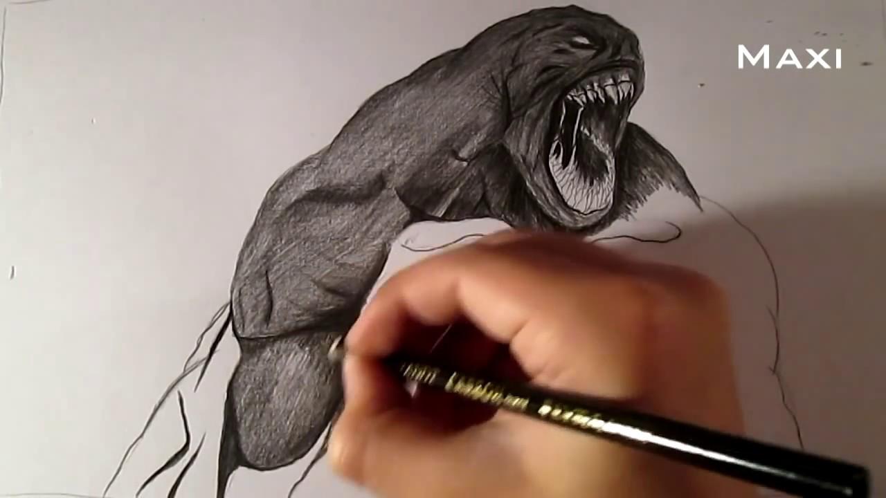 Dibujando Al Kraken De Furia De Titanes The Kraken Dibujo A Lápiz Y Carboncillo