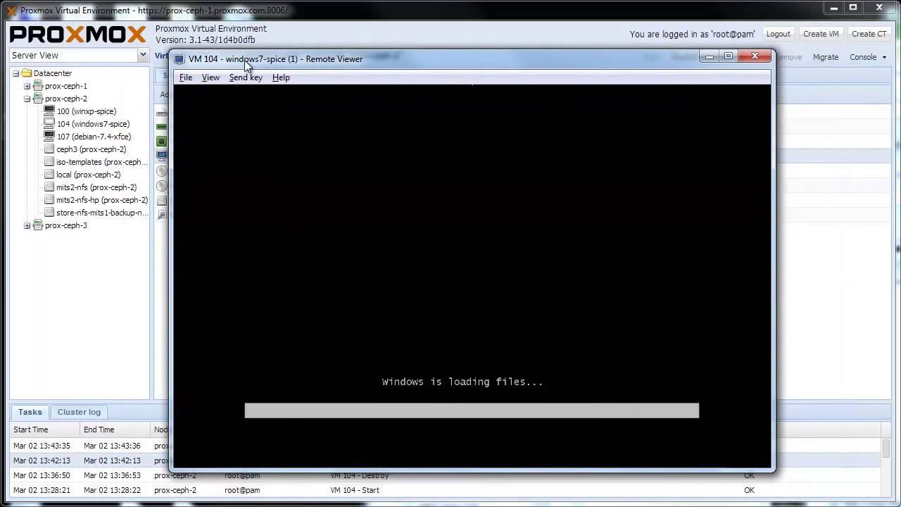 Install Windows 7 on Proxmox VE using virtio and SPICE