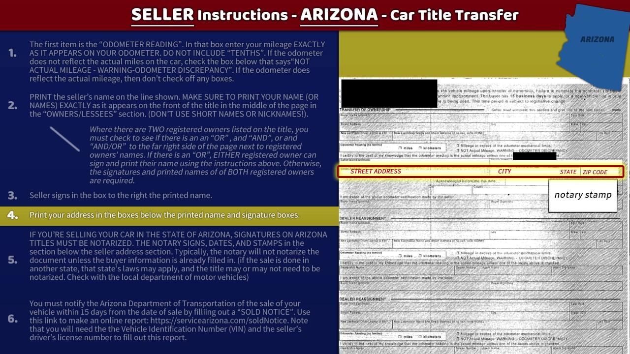 transfer arizona title seller instructions youtube. Black Bedroom Furniture Sets. Home Design Ideas