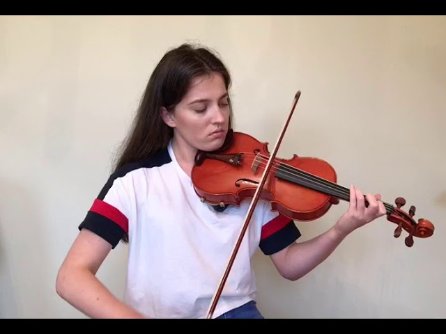 Caoimhe Flannery plays two jigs on a violin made by Haruaki Saito