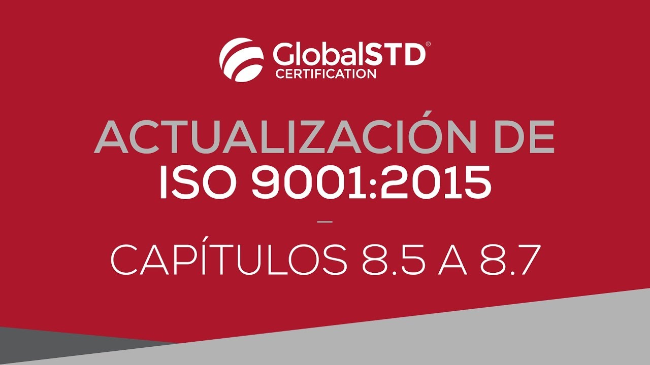 Capítulo 8 5 A 8 7 De Iso 9001 2015 Youtube