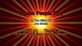 Joe South - Games People Play (Backing Track)