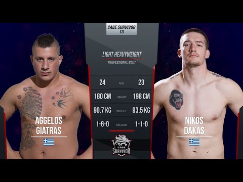 Cage Survivor 13: Aggelos Giatras vs. Nikos Dakas Full Fight