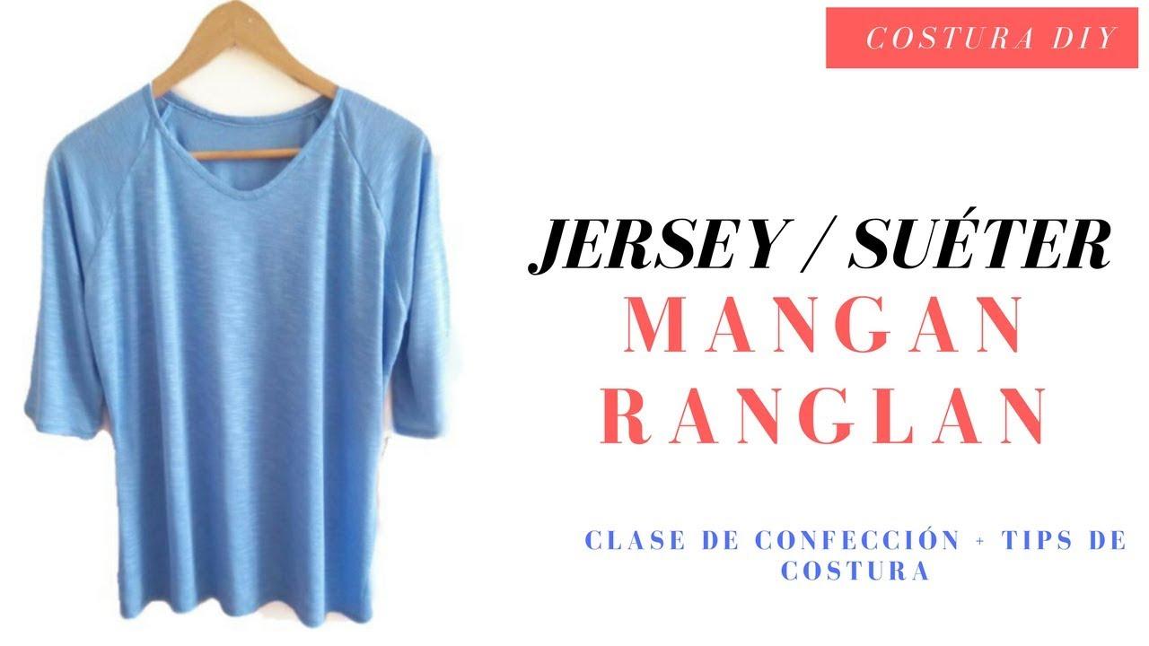 Confección de Jersey/ Suéter / Sudadera con manga Ranglan Costura ...