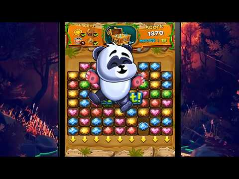 Panda Gems - Match 3 Puzzle Game Trailer By Launchship Studios IPhone And Android 2018