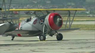 2011 Planes of Fame Air Show - Navy Flight : J2F. F3F. F4F