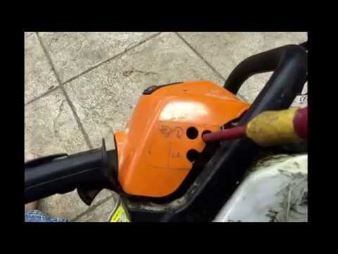 How to adjust the mixture / carb on a chainsaw, strimmer or hedge trimmer
