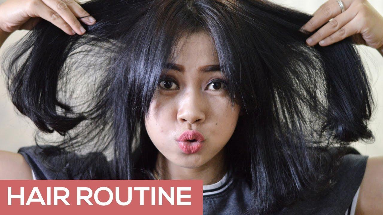 Rahasia Rambut Tebal Hair Routine Youtube
