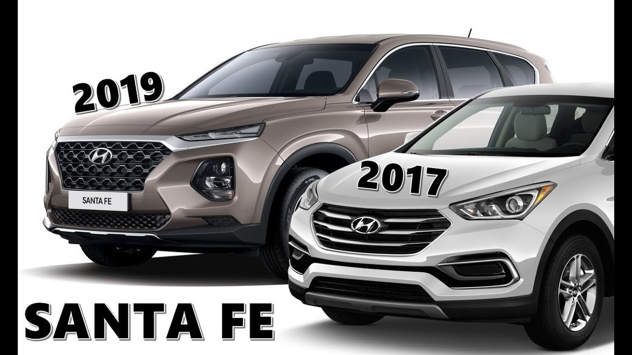 Santa Fa 2019 >> 2019 Santa Fe vs 2017 Santa Fe - See The Difference - YouTube