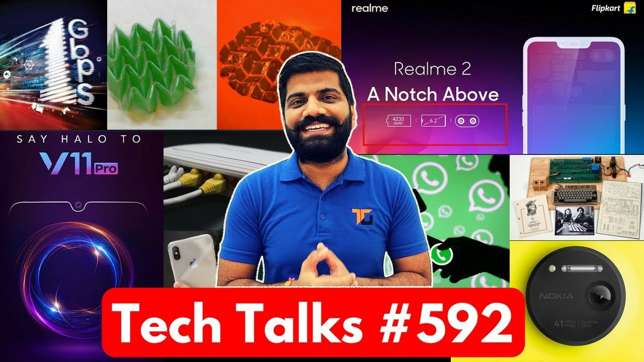 Tech Talks #592 - RealMe 2, Apple 1, Vivo V11 Pro, 2019 iPhones, ISRO Indian Army, HMD Pureview