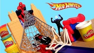 Hot Wheels Marvel Spider-man 2 With Venom Spidey Web Disney Pixar Cars Lightning Mcqueen Play Doh