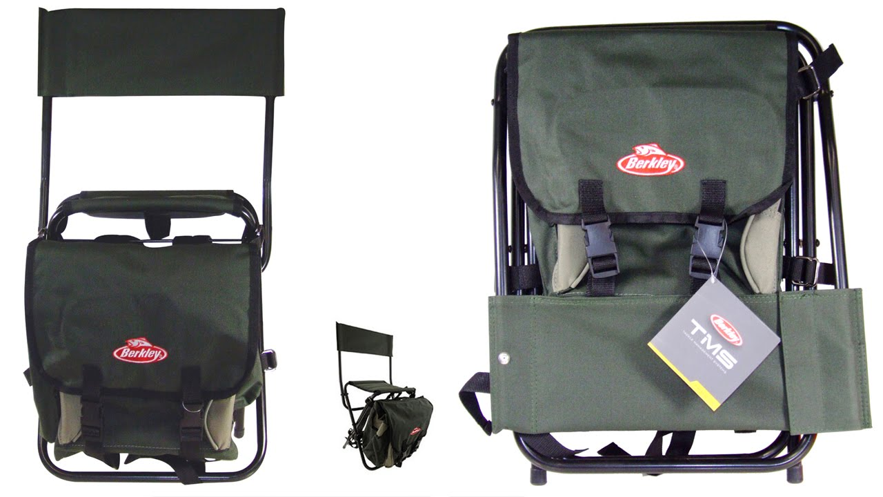 Fishing Chair Rucksack Brookstone Massager Berkley Fold With Backpack Youtube