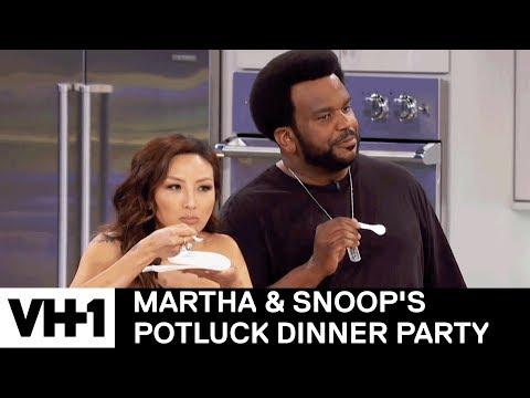 Craig Robinson & Jeannie Mai Try the Caviar Vending Machine  Martha & Snoop's Potluck Dinner Party