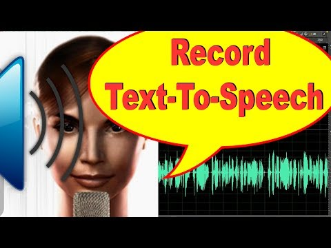 How To Record Text To Speech Voice From Online | Best Way To Record