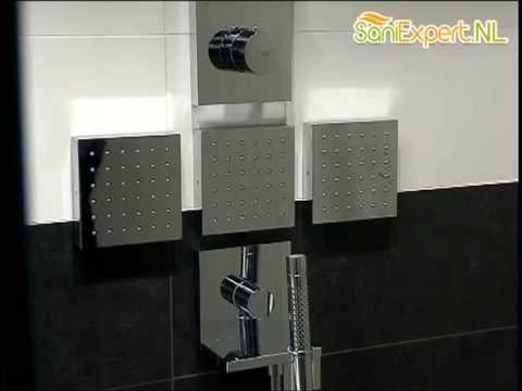 Axor - Starck - Shower collection afdekset thermostaat module - YouTube