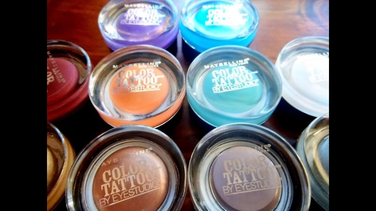 REVIEW: Maybelline Color Tattoo 24hr Eyeshadow (All Colors ...