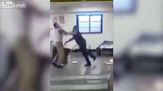 Rikers Island Prison Guard and Inmate Going Mano A Mano