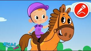 Привет, Малыш! Про лошадку - Развивающий мультфильм и караоке для детей