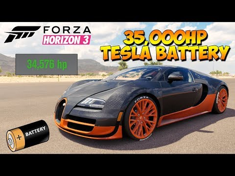 Forza Horizon 3 - Bugatti With 35,000HP Tesla Motor - Dev Mods