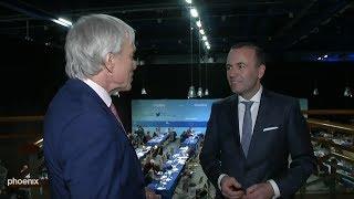 EVP-Kandidat Manfred Weber (CSU) im Interview bei EU-Reporter Jan-Christoph Nüse am 08.11.18