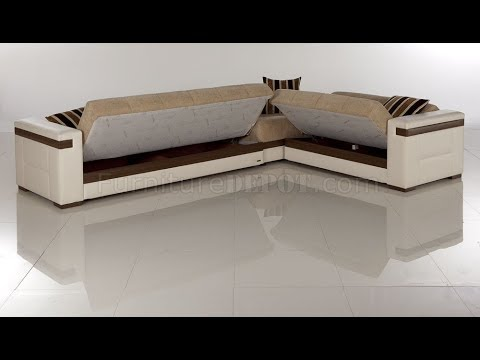 Modern Sectional Sofa Bed - YouTube
