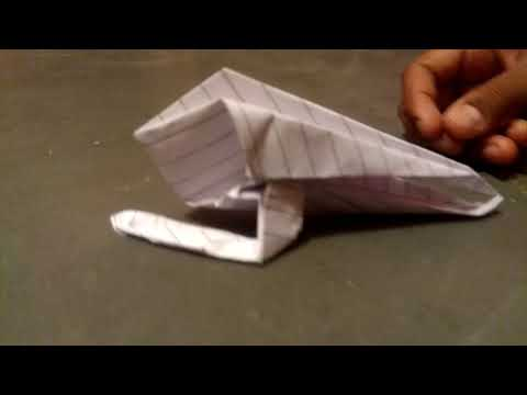 How to make Paper helicopter without glue