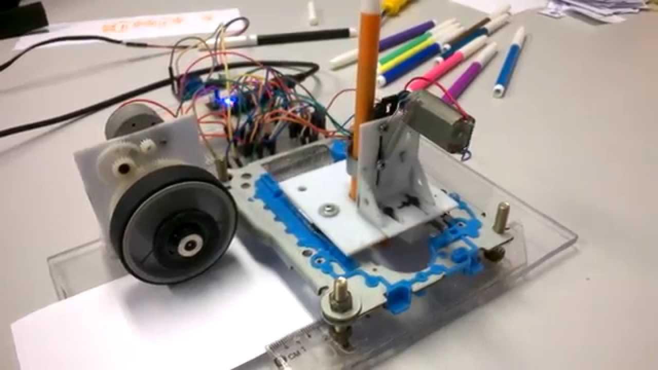 Instrucatbles robot a dot matrix printer made with cd for Print head stepper motor