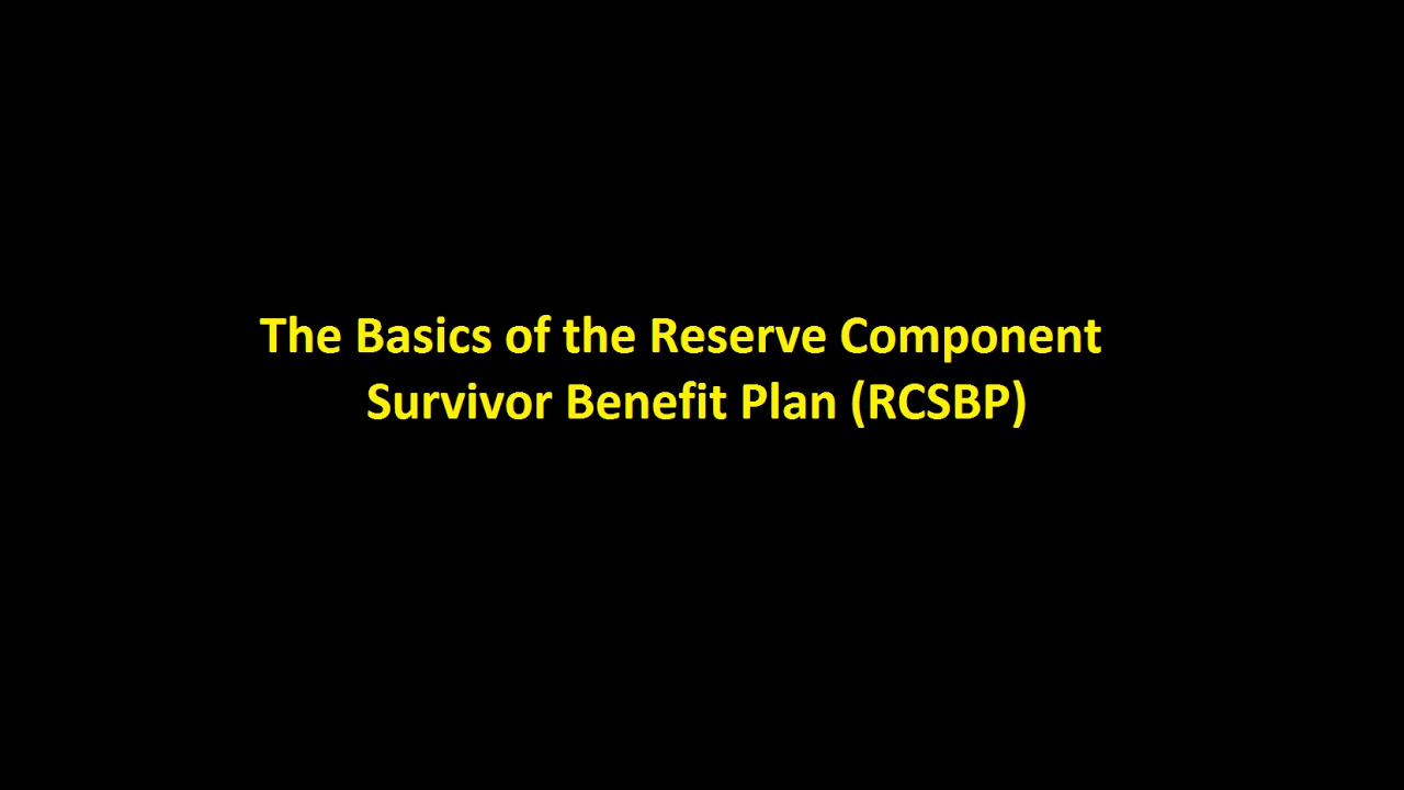 Episode 0005 - The Basics of the Reserve Component Survivor ...