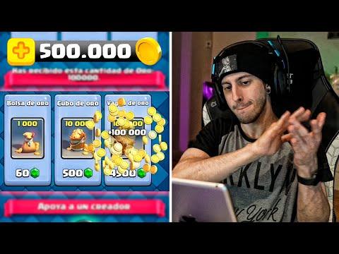 GASTANDO +500.000 DE ORO EN CLASH ROYALE | Robleis