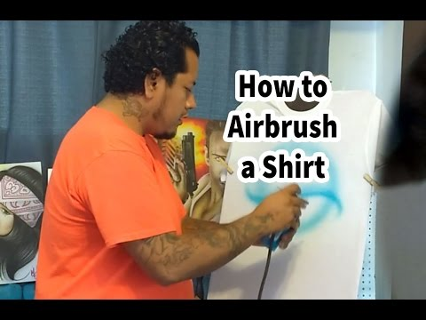 How to Airbrush a Shirt for Beginners