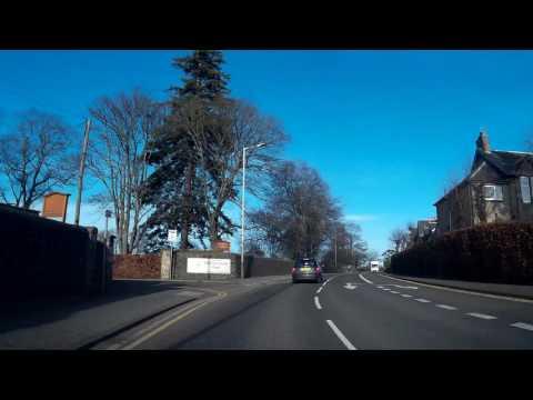 Drive From Bridgend Perth Into Scone Perthshire Scotland