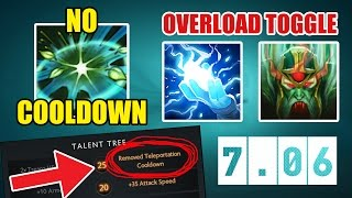 [New 7.06 Ability Draft] No Cooldown Talant + Toggle Overload Charge | Dota 2