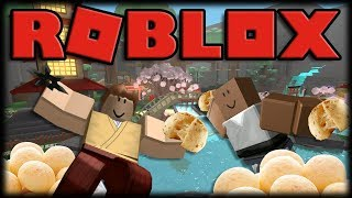 Playing Roblox-Ninja asasin-turning samurai Ninjas from cheese bread!!