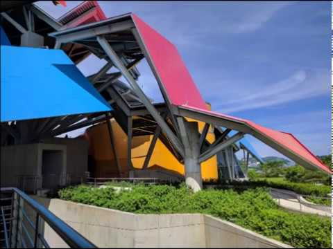 Biodiversity Museum in Causeway Islands in Panama. A Frank Gehry Architectural Design.