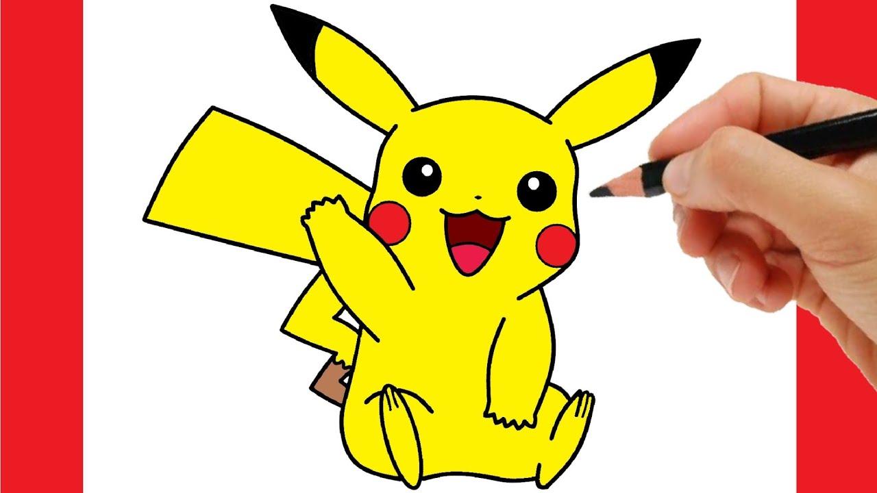 How to draw pikachu - how to draw pokemon