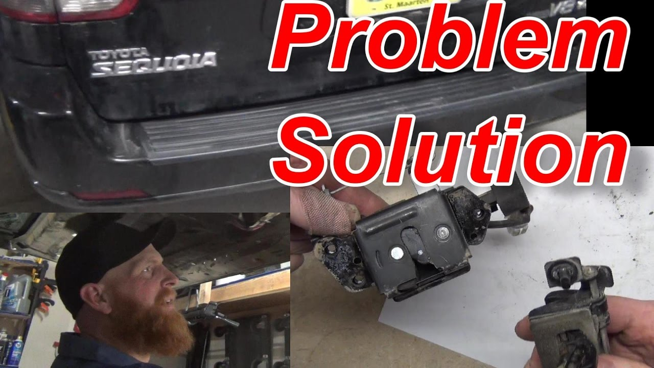 Toyota Sequoia Rear Hatch Fix Youtube