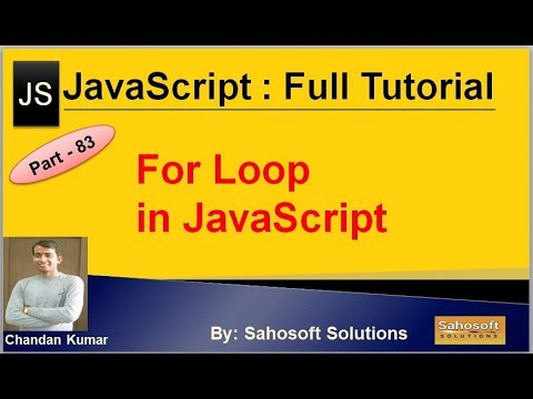 For Loop in JavaScript | JavaScript Full Tutorial in Hindi thumbnail