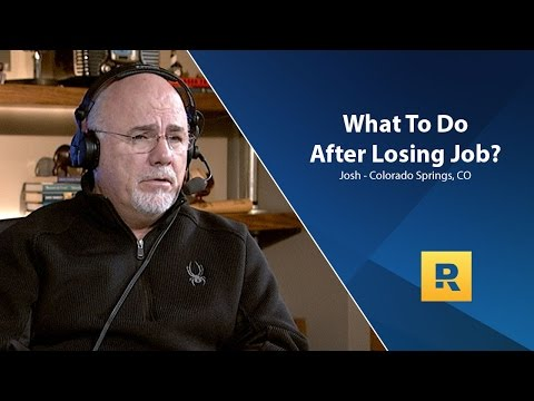 Lost My Job - What Do I Do?