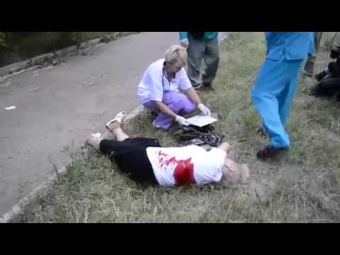 Ukraine Revolution 12.06.2014 - Slavyansk, Russian terrorists shoot in peaceful Ukrainians