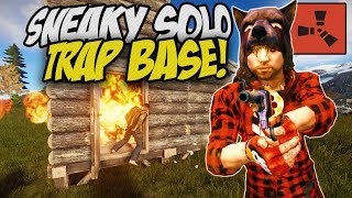 BUILDING a SOLO TRAP BASE on RUSTAFIED! - Rust Solo Survival Gameplay