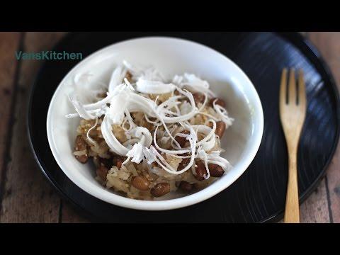 Vietnamese peanut sticky rice (Nấu xôi đậu phộng bằng nồi cơm điện)