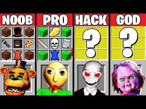 Minecraft Battle: HORROR GAME CRAFTING CHALLENGE - NOOB vs PRO vs HACKER vs GOD Minecraft Animation - Лучшие видео поздравления в ютубе (в высоком качестве)!